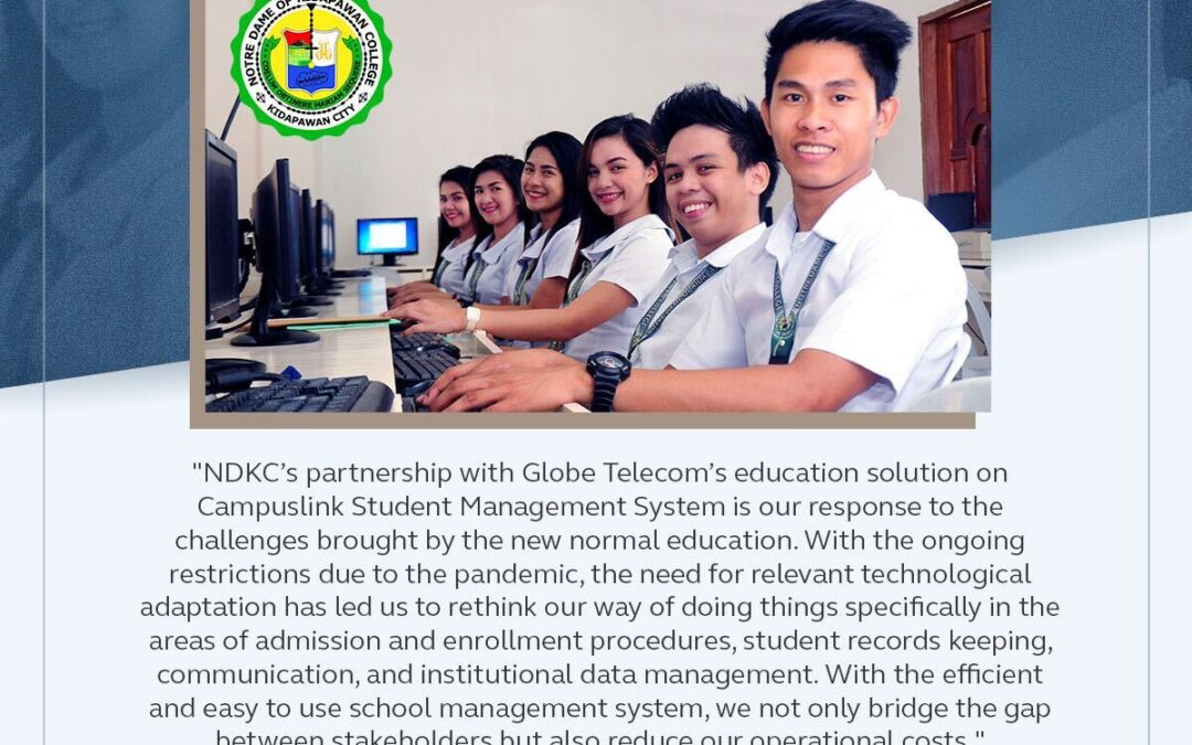 Notre Dame of Kidapawan Adjusts to Changes in the New Normal by Partnering with Globe